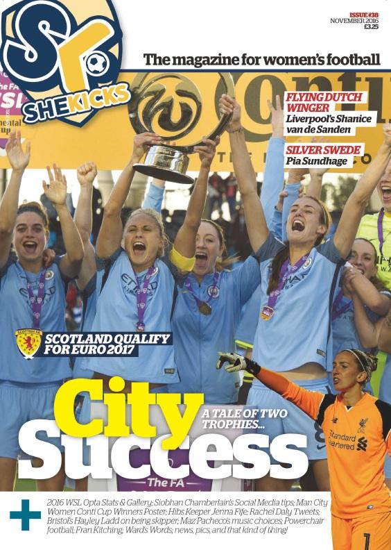 Issue 38 November 2016 She Kicks Women 39 S Football Magazine