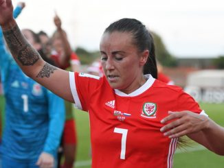 Natasha Harding hit a hat-trick for Wales