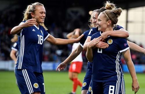 Kim Little scored five times for Scotland