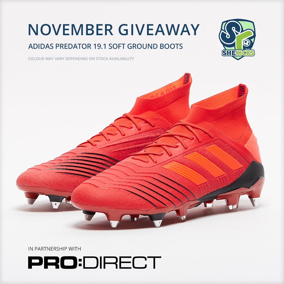 COMPETITION  November Boots Giveaway (adidas Predator 19.1 SG) - She ... cb5e81d360