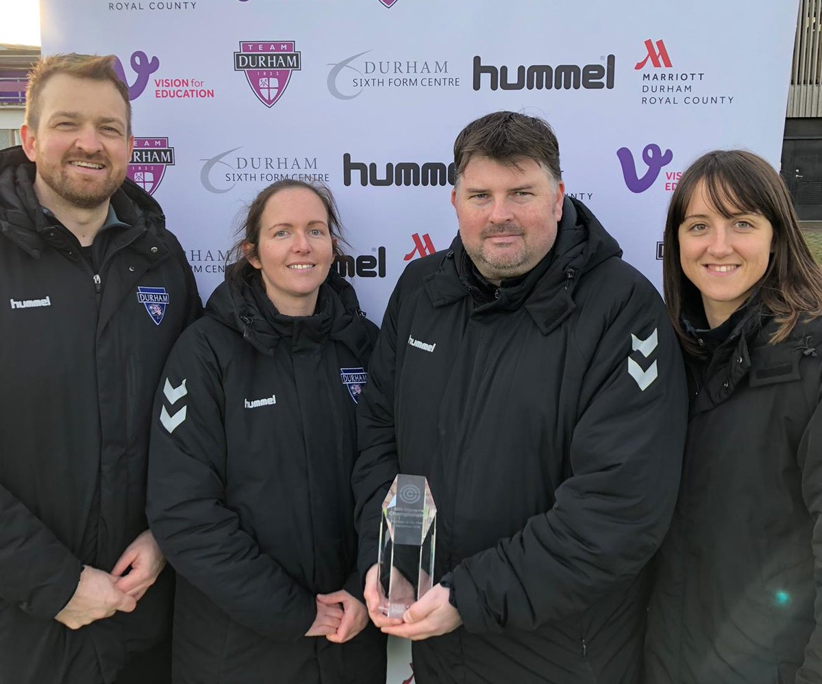 Nick Cushing & Durham WFC winners of LMA December awards