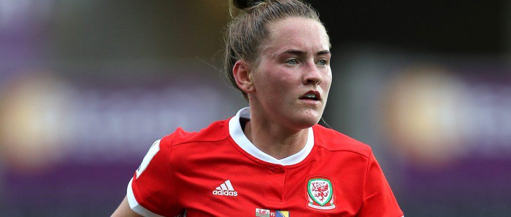 Rachel Rowe scored for Wales in Belarus