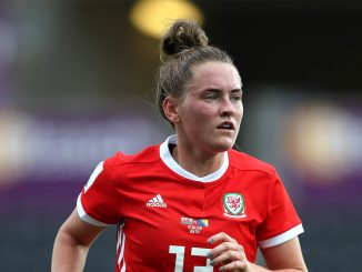 Rachel Rowe scored for Wales in Belarus
