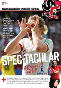 She Kicks Magazine Issue 55 cover featuring Ellen White