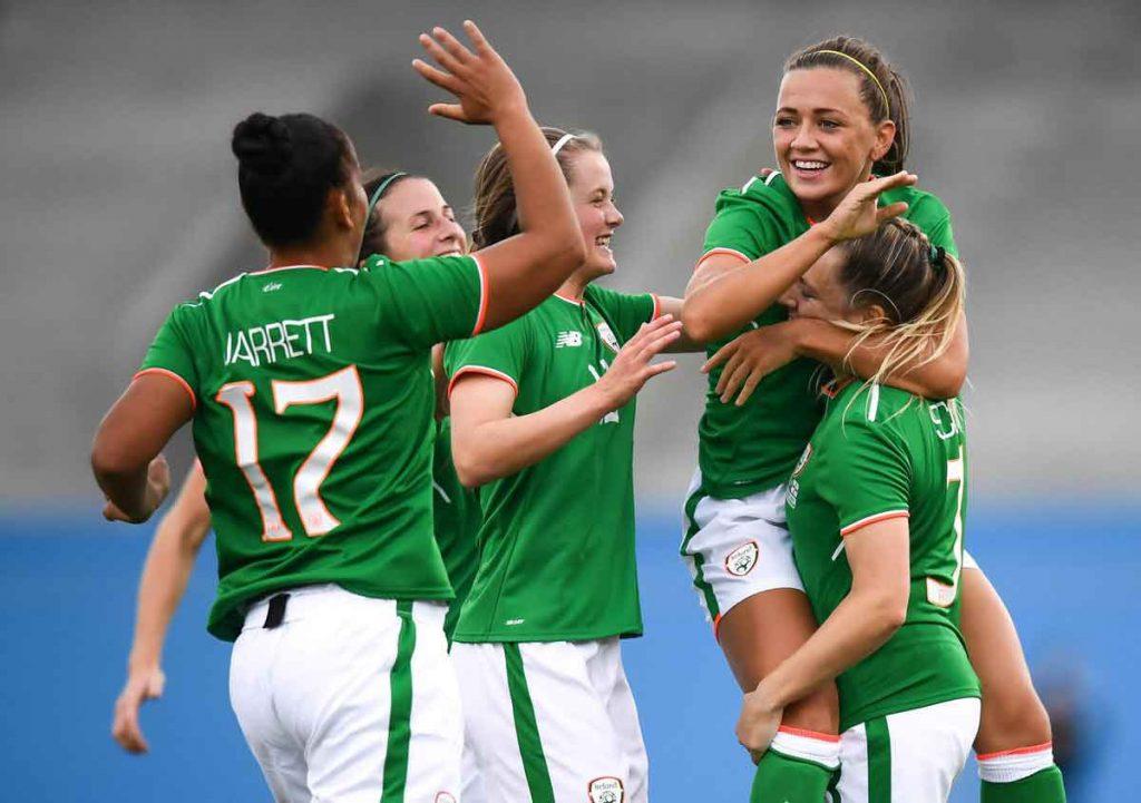 Republic of Ireland players celebrate