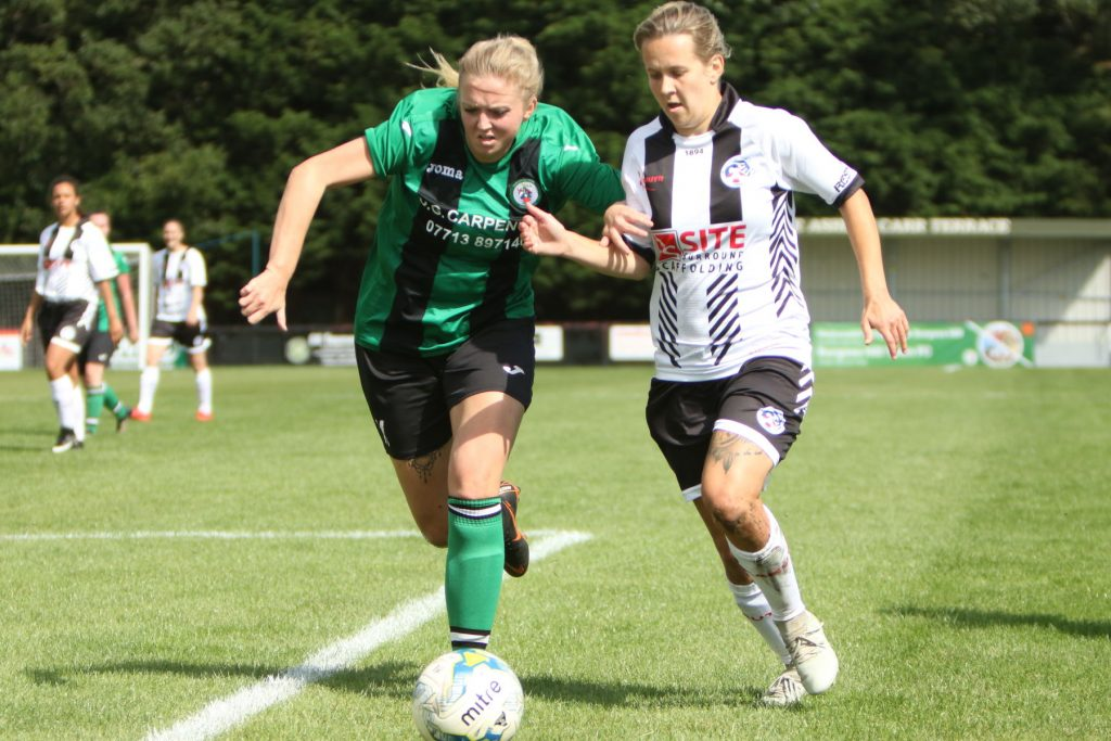 Burgess Hill Town v Eastbourne United in the Women's FA Cup