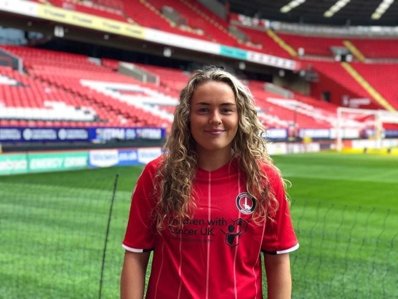 Charlton Athletic Women's new signing Charlie Devlin,