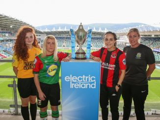 Electric Ireland Cup semi finalists at Windsor Park.