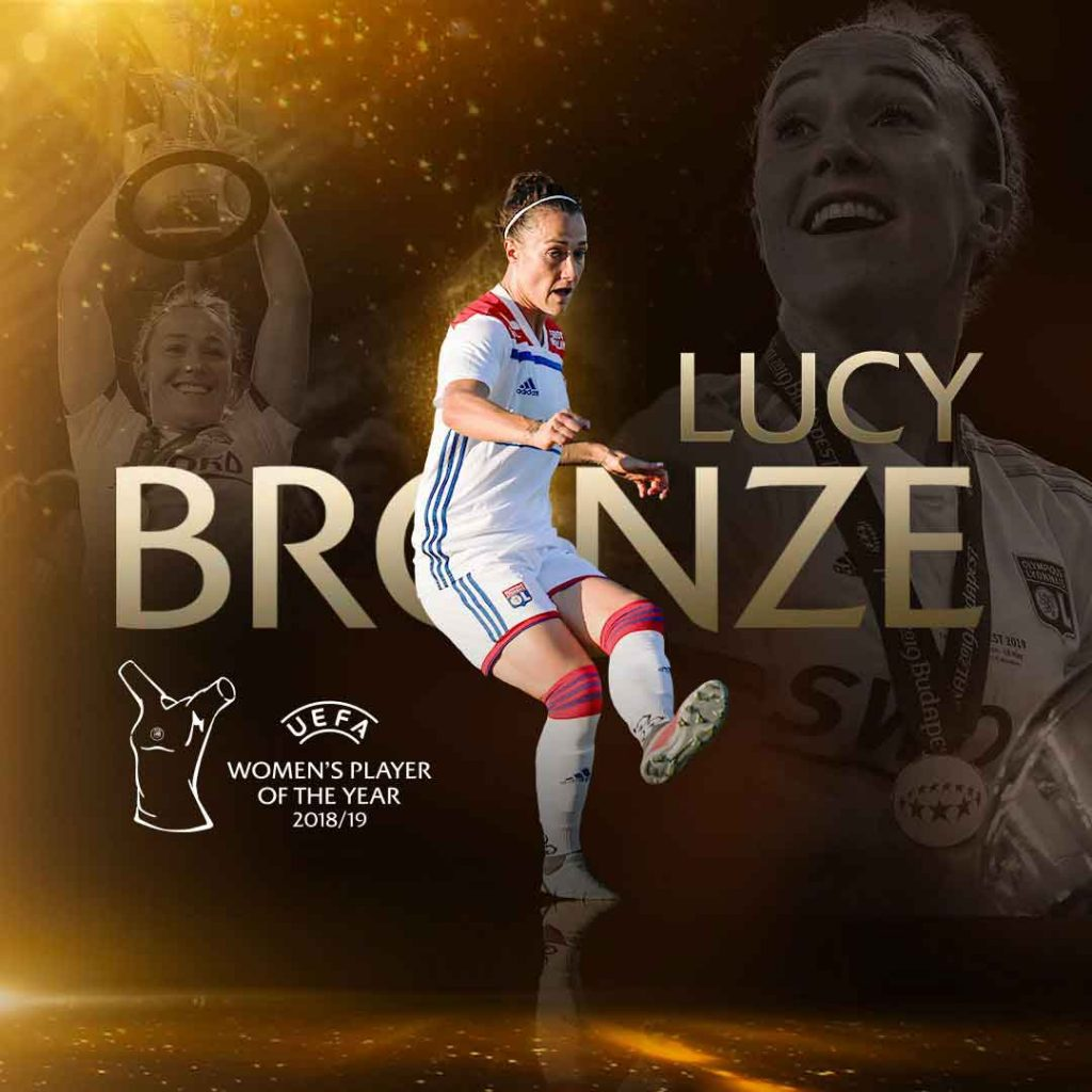 Lucy Bronze UEFA Women's Plkayer of the Year