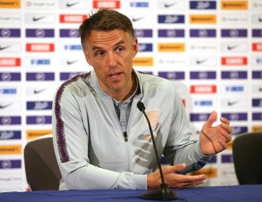 England women's head coach Phil Neville