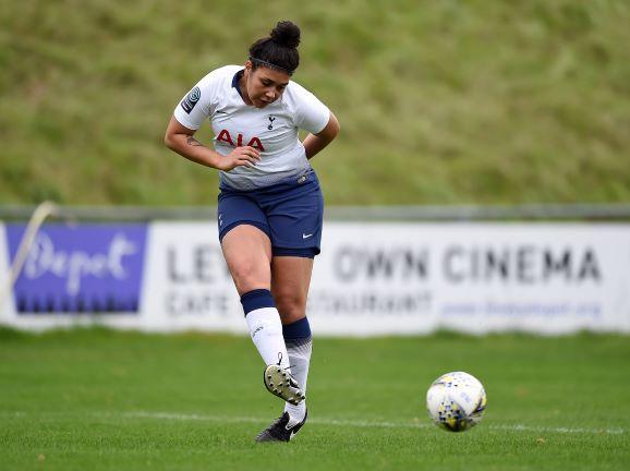 Charlton Athletic Women's new signing, Renee Hector kicking football