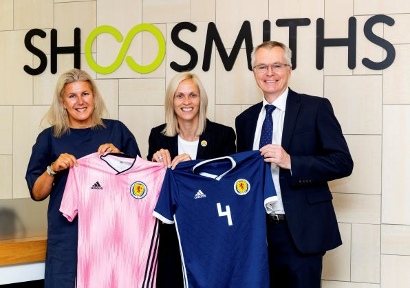 Scottish FA launch partnership at d Shoosmiths in Edinburgh.