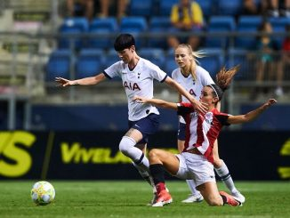 Spurs in action against Athletic Club Bilbao.