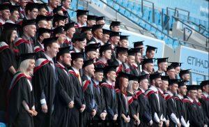 UCFB graduates at Etihad Stadium