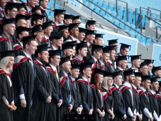 UCFB graduates at Etihad Stadium