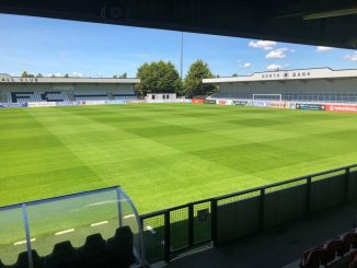 Boreham Wood FC's new North Bank stand.