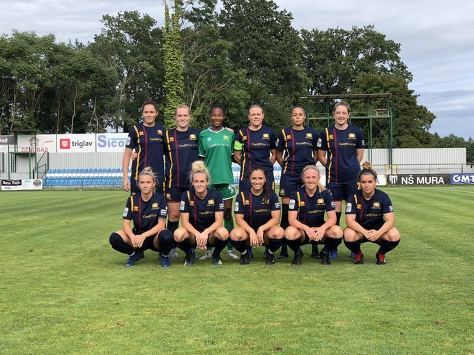 Cardiff Met pictured before their last UWCL qualifying round group game.