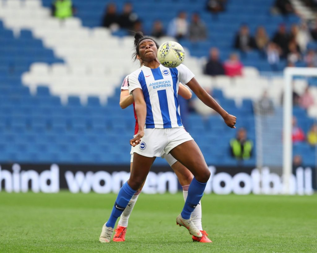Brighton's match-winner, Ini Umotong