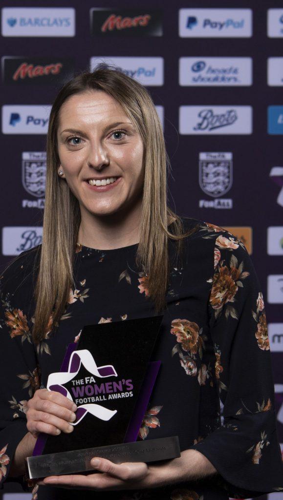 Jade Cross at the FA Women;s Football Awards