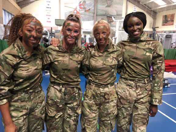 Liverpool FC Women train with Royal Marines