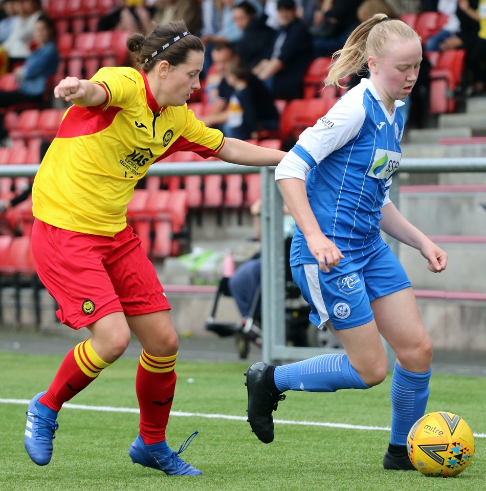 Partick Thistle player pressing St Johnstone player