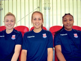 Stoke City new signings Hollie Gibson, Ali Hall and Tanisha Smith