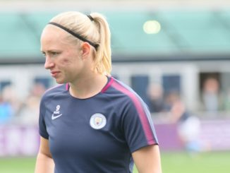 Manchester City's Pauline Bremer departs
