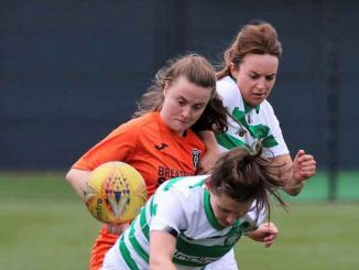 Glasgow City goal scorer and player of the match Kirsty Howat