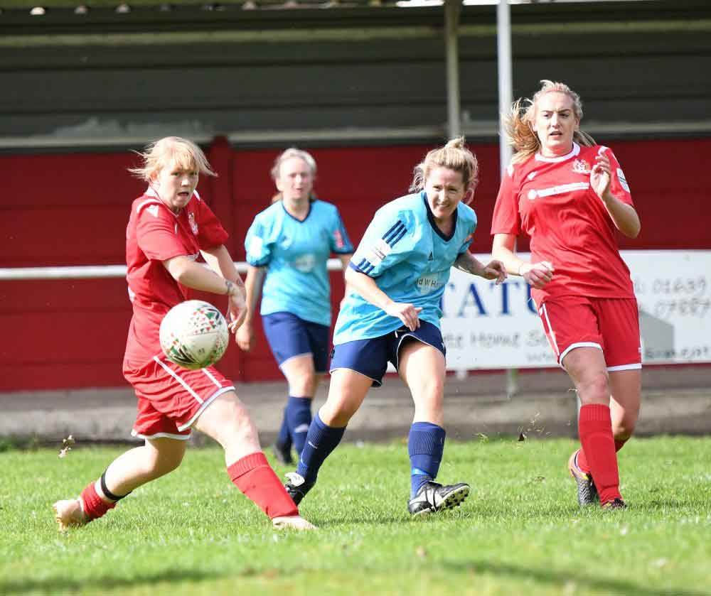 Port Talbot's two-goal hero, Laura May Walkley