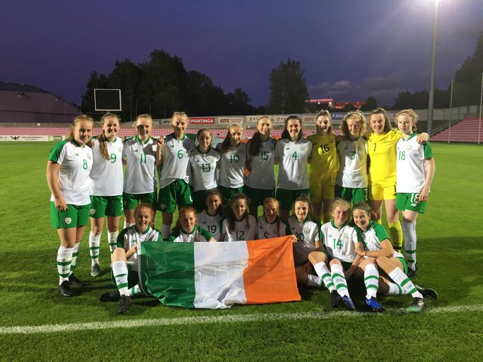Republic of Ireland U-17s celebrate