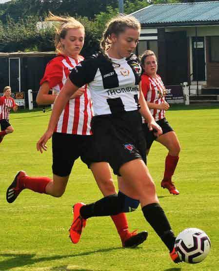 Alknwick Town on the ball against Sunderlan West End