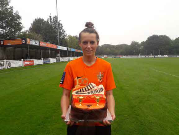 Charlotte Proud made her 100th appearance for Brighouse