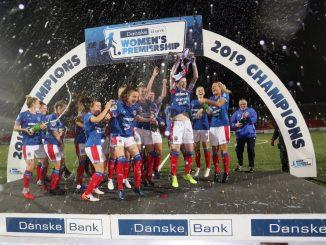 Danske Bankw Women's Premier champions Linfield