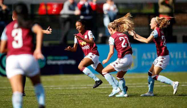 Aston Villa's three-goal Melissa Johnson