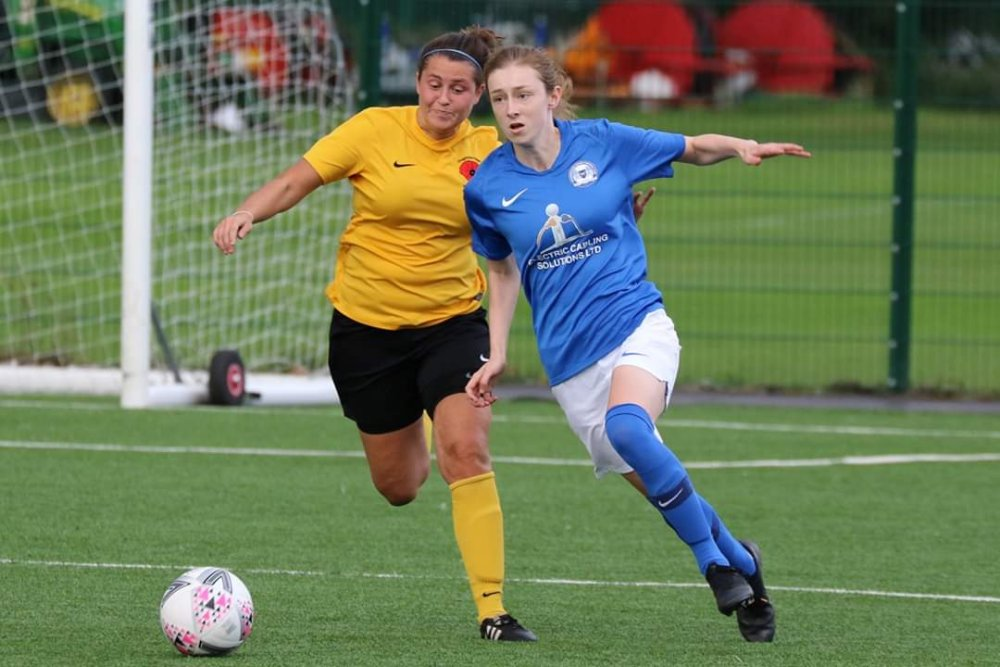 East Midlands League leaders, Peterborough United on the attack