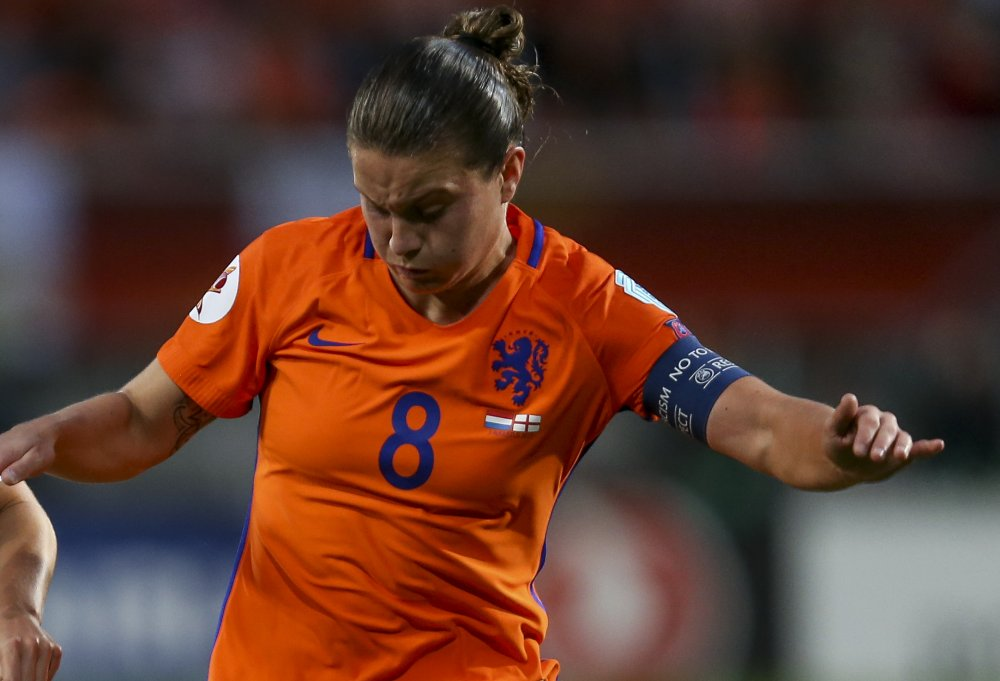 Netherlands' Sherida Spitse socred two penalties