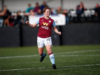 Emily Syme scored her first goal for Aston Villa.