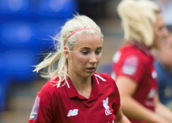 Liverpool's three-goal Kirsty Linnett.