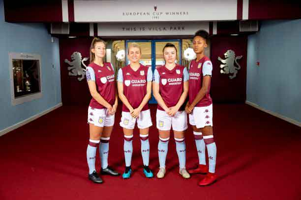 Aston Villa players show off new sponsored shorts