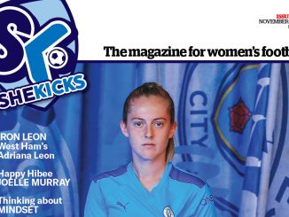 She Kicks Womens Football magazine Issue #57 (Nov 2019) cropped image featuring Keira Walsh