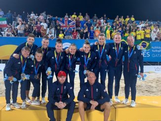 Team GB with their Beach World Games silver medals
