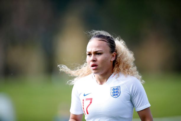 England U-19's two-goal Ebony Salmon