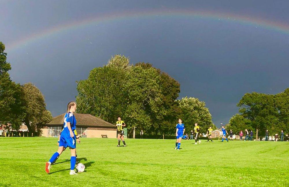 Lewes U-18s won under a rainbow