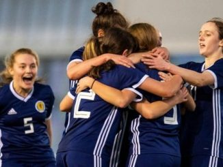 Scotland U-17s celebrate goal against Montenegro