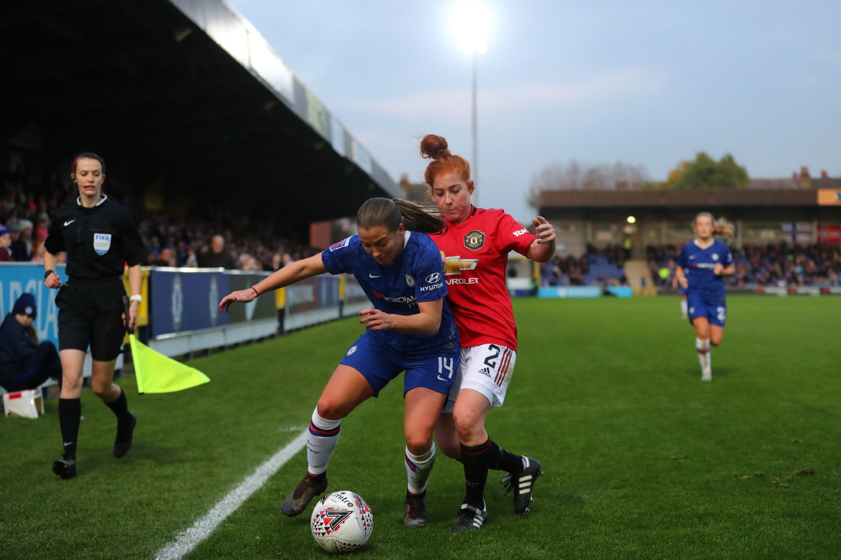 Chelsea's Fran Kirby won a penalty