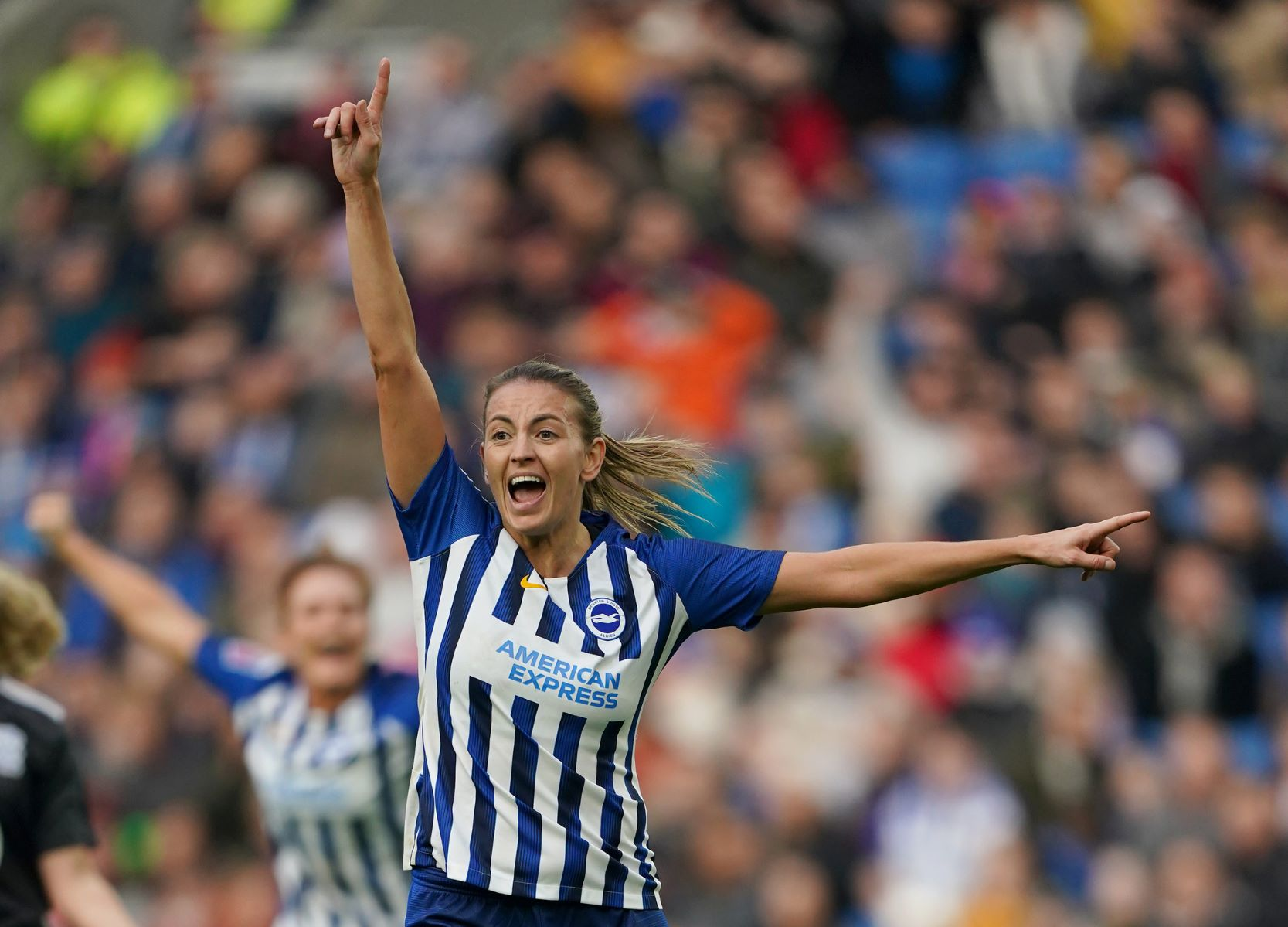 Brighton's two-goal Kayleigh Green