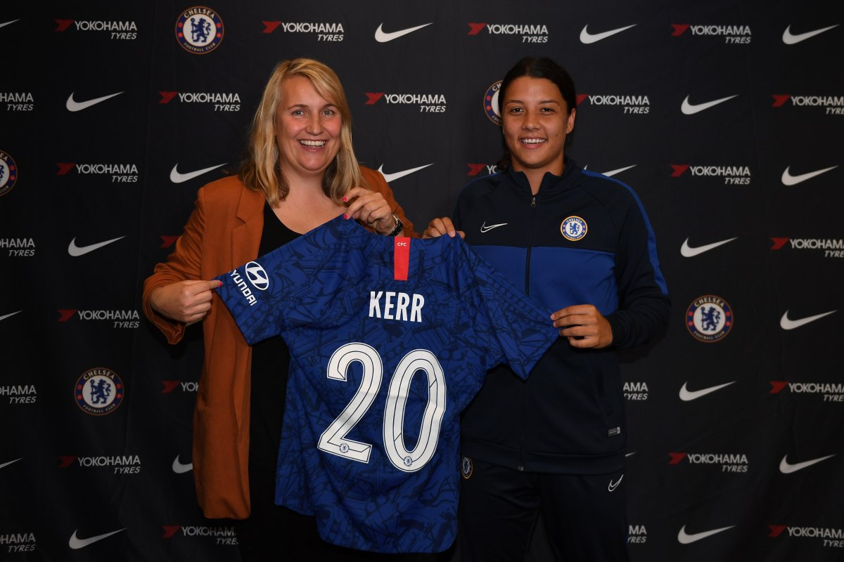 Chelsea;s big new signing, Sam Kerr