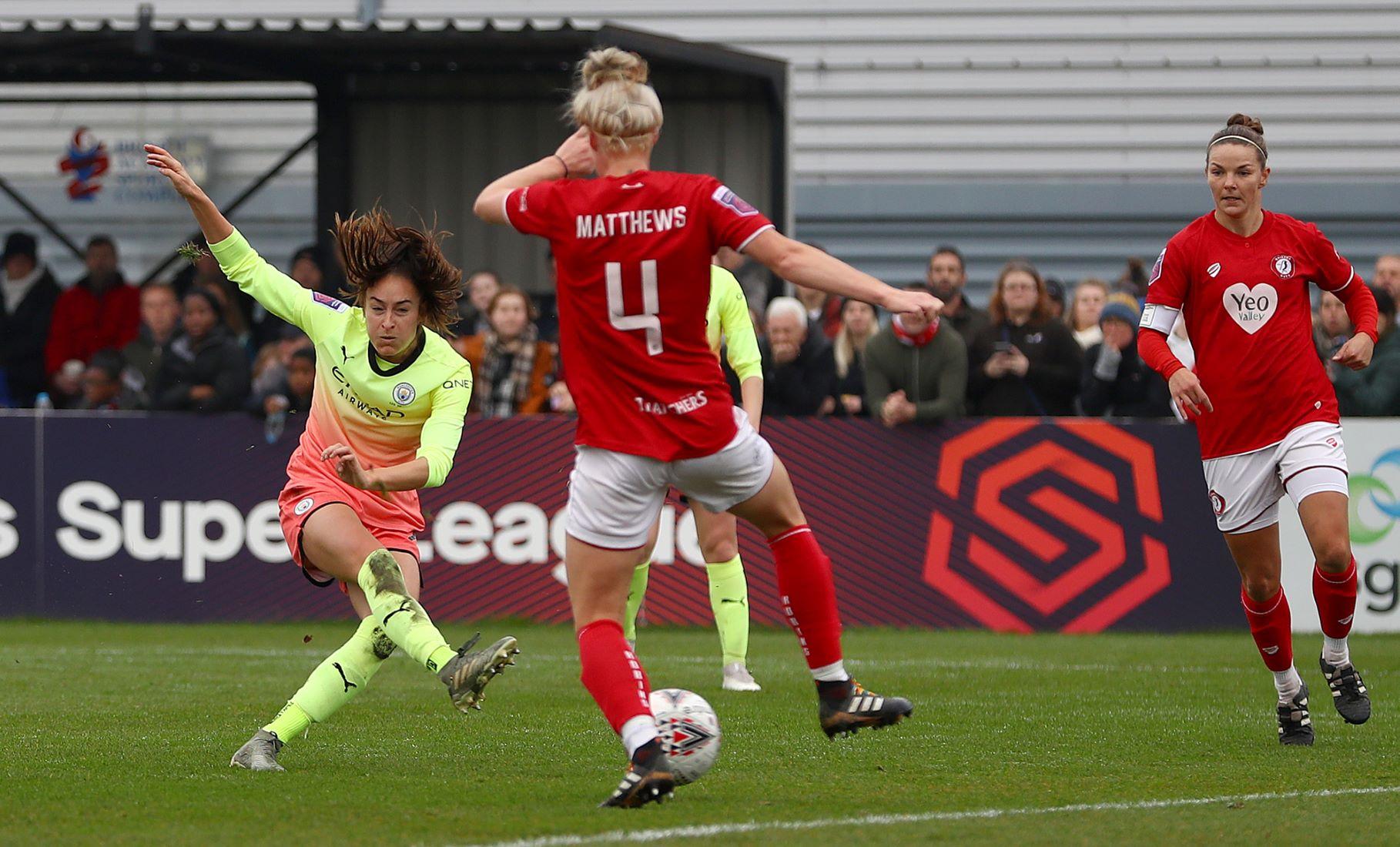 Tessa Wullaert got Man City's first goal