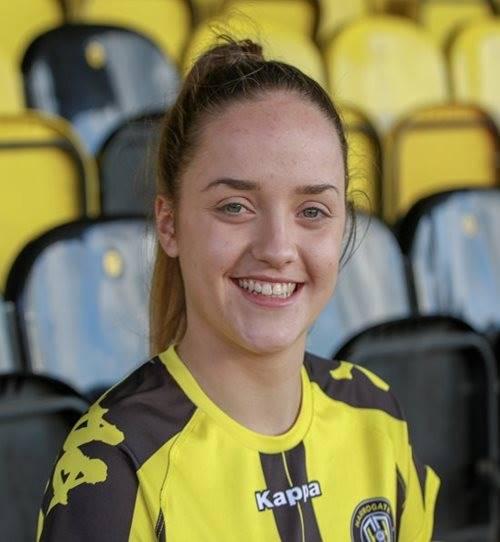 Grace Fpoyer's brace put Harrogate Town top.