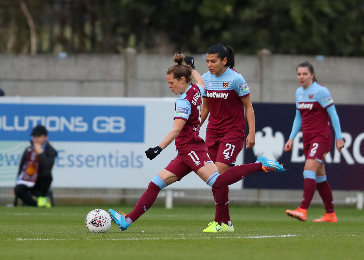 Katharina Baunach netted two free-kicks for West Ham